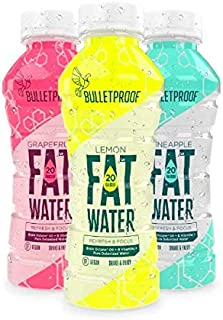 Bulletproof Variety Pack FATwater Vitamin Water, 12 Pack, Ketogenic with Brain Octane C8 MCT Oil and B Vita...