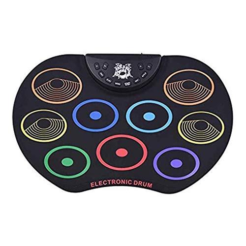 Elektronische Drum Set E-Drum Set, tragbare elektronische Drum Pad - Eingebauter Lautsprecher Digital-Roll-Up-Touch-Pads Beschrifteten und Fußpedale Elektronisches Schlagzeug Kit