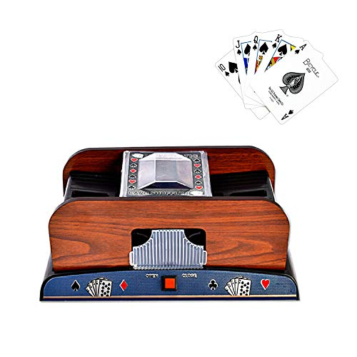 kuaetily Kartenmischer Automatische Kartenmischmaschine Elektrische Kann Zwei Decks mischen