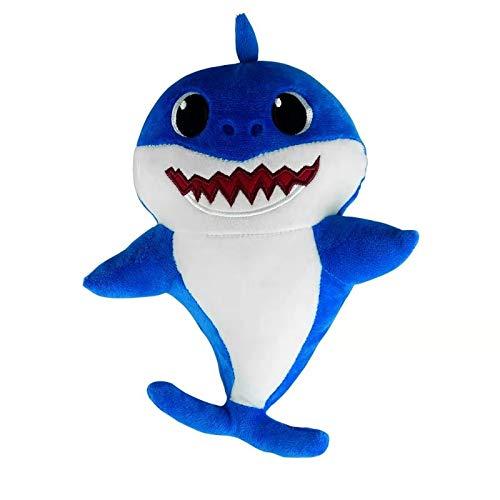 Shark Plush Baby Toy Singing Shark Toys Song for Children's Soft Stuffed Animal Doll (Blue)