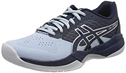 ASICS Womens Gel-Game 7 Tennis Shoe, Soft Sky/Peacoat, 40 EU