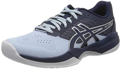 Asics Gel-Game 7, Zapatos de Tenis para Mujer, Multicolot (Soft Sky/Peacoat), 40.5...