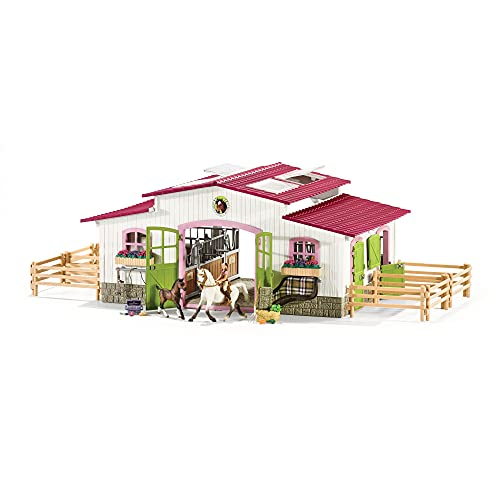 Schleich Horse Club, 44-Piece Playset, Horse Toys for Girls and Boys...