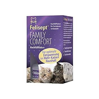 Felisept Family Comfort Recharge 45 ml -Anti Conflit Pour Chat - Avec De L'Herbe À Chat Naturelle - Détente Dans Une Maison Multi-Chats