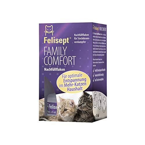 Felisept Family Comfort - Entspannungsmittel im Mehrkatzenhaushalt - Nachfüllflakon 45ml - Mit natürlicher Katzenminze - Wohlbefinden & Entspannung für Katzen