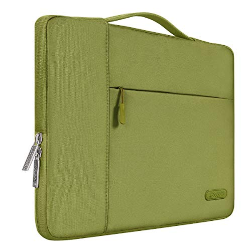 MOSISO Laptop Aktentasche Kompatibel mit 13-13,3 Zoll MacBook Air, MacBook Pro, Notebook Computer, Polyester Multifunktion Sleeve Hülle, Capulet Olive
