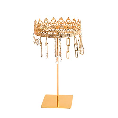 LXX Cajas de joyería para pendientes, organizador de joyas, soporte de exhibición de metal, soporte para collares, cofres de joyería (color: B)