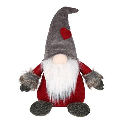 RUIBUY Handgefertigte Schwedische Tomte, Santa Elf Zwerg Figuren Plüsch Filz Weihnachten Dekorationen Party Favors