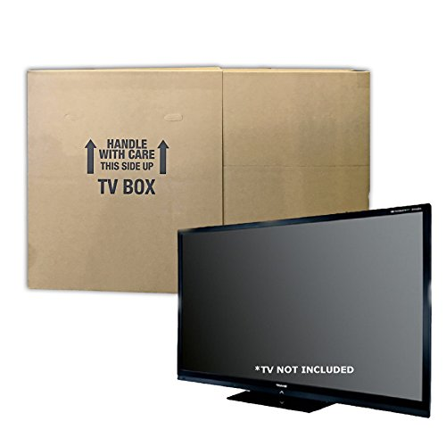 Uboxes TVMOVEBOXES2 TV Moving Box Flat Screen Fits TV's 32' To 70' Adjustable Box LCD, LED, Plasma