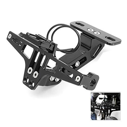 Dasing Adjustable Aluminum Motorcycle License Number Plate Holder Bracket Cnc Frame With Led Light Adjustable For Bws R25 R3 Mt03 Msx