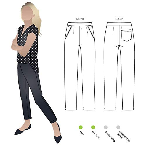 Style Arc Sewing Pattern - Parker Ponte Pant (Sizes 04-16) - Click for Other Sizes Available