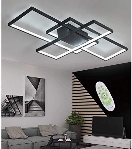 LED Deckenleuchte Wohnzimmerlampe Dimmbar Deckenlampe Modern mit Fernbedienung Design Lampe Metall Acryl Lampenschirm Decke Licht für Esszimmer Schlafzimmer Küche Badlampe Chic Deko Leuchte