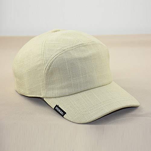 Preisvergleich Produktbild sdssup Leinen Baseballmütze vertiefen Kappe Frühling und Sommer Herrenhut atmungsaktiv beige verstellbar 58-64cm