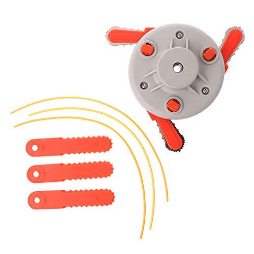 VAILANG 1 Establezca el Doble Uso de la cortadora de heno con Cabeza cortadora de Cuchillas Nylon Weeder Head con Hoja para Accesorios de cortadora de huertos caseros