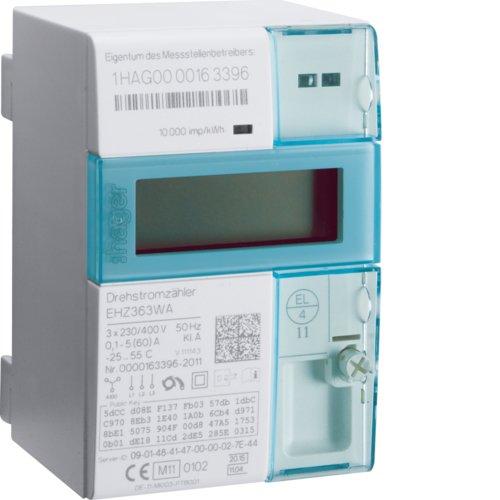 Hager EHZ363WA eHZ EDL DS-Wirkverbrauchzähler, Kl.A