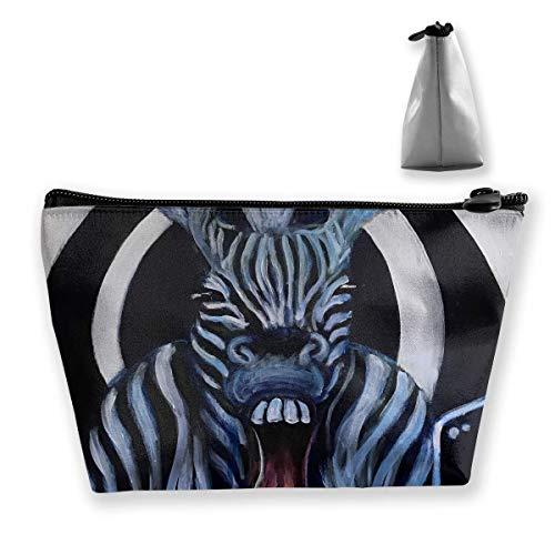 Schminktasche Kosmetik Zebra Animal Strip Circle Tragbare Kosmetiktasche Mobile Trapez...