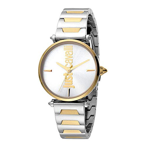 Just Cavalli Reloj Analógico para Mujer de Cuarzo con Correa en Acero