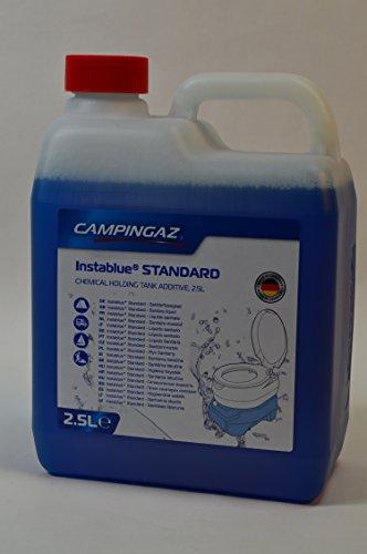 1 Kanister CAMPINGAZ a 2,5L (Gesamtmenge: 2,5L) Instablue® Standard Sanitärflüssigkeit für Chemietoiletten Toilette Chemietoilette Toiletten Camping Wohnwagen Wohnmobil