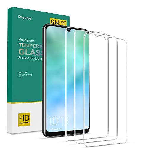 Deyooxi Protector de Pantalla para Huawei P Smart 2019/Huawei P Smart 2020/Huawei Honor 10 Lite/Huawei Honor 20 Lite,3 Unidades Cristal vidrio Templado Pantalla Protectora,Alta Definicion,Transparente