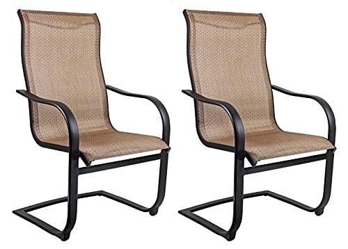 Patio Master Corp Outdoor Patio Bellevue Spring Chair 2 Count