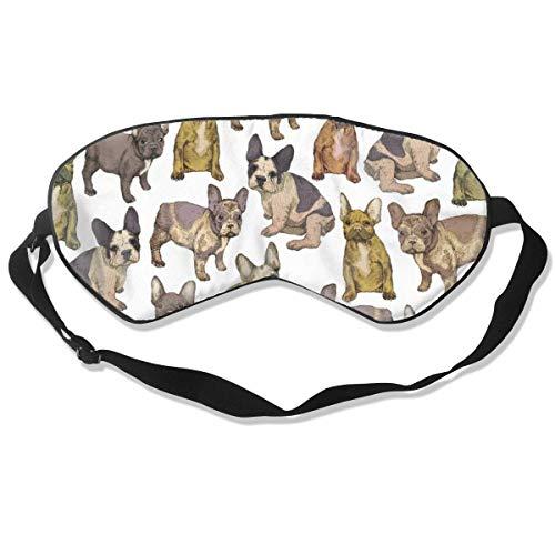 Französische Bulldogge Herren und Damen Schlafmaske seidig weich Schlafmaske Schlafmaske Augenbinde Schwarz Nacht Schlafzimmer