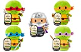 Plush Hallmark Itty Bittys Teenage Mutant Ninja Turtles: Leonardo, Michaelangelo, Raphael, Donatelo & Shredder - Set of Five