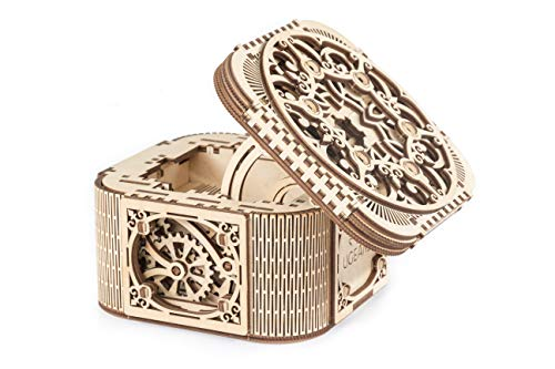 UGears Mechanical Models 3-D Wooden Puzzle - Mechanical Treasure Box