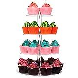 4 niveaux rond acrylique Cupcake Stand Clair Dessert Présentoir À Dessert Tour Arbre De Mariage Fête D'anniversaire De Service...