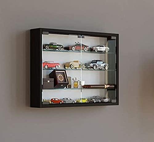 VCM Wall display cabinet Mandosa M,Black, Wood Structure Replica, L. 40 x W. 60 x D. 10 cm