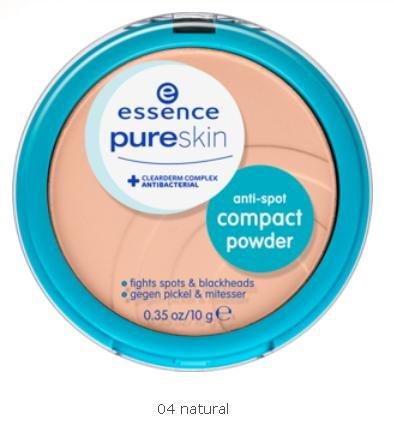 Essence Pure Skin Anti-Spot Compact Powder gegen Pickel & Mitesser Nr. 04 natural Inhalt: 10g Puder der hilft das Hautbild zu verbessern