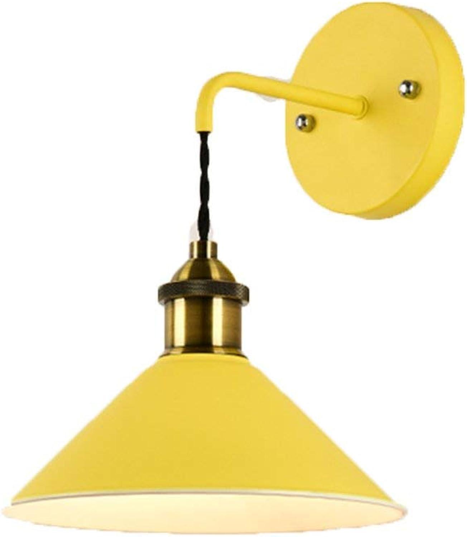 Reeseiy Minimalistische Kreative Wandlampe Korridorgangtreppenhaus Wohnzimmerlampe Wandleuchte Home Office Farbe Gelb (Farbe   Gelb-Größe)