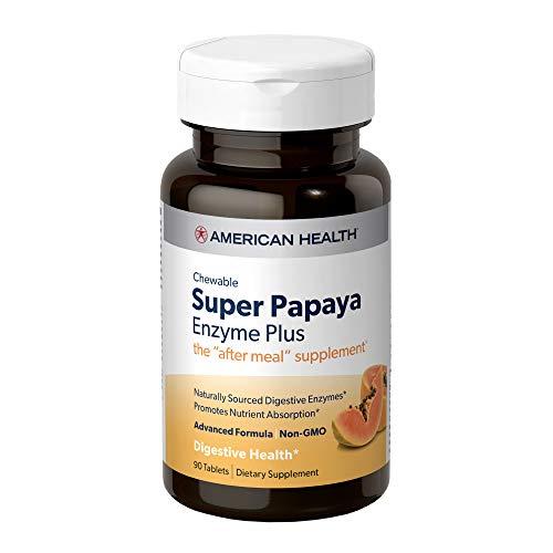 American Health Super Papaya Enzyme Plus, 90 Count