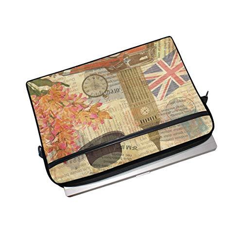 Linomo Laptoptasche/Laptoptasche mit britischer Flagge und britischer Flagge, für Laptops mit 33 cm (13 Zoll) (14 Zoll) und 14,5 Zoll