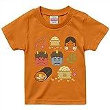 igsticker プリント Tシャツ キッズ 子供 110 サイズ size おしゃれ クルーネック 橙色 オレンジ t-shirt 012872 節分 鬼 豆