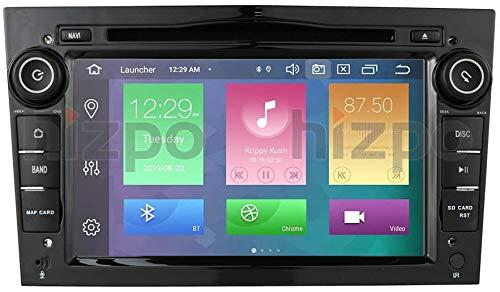Android 10 Autoradio 4+64G para Opel Opel 2 DIN Radio GPS Control del Volante Bluetooth Reproductor de DVD WiFi 4G RDS DSP Dab+ Entrada de Vista Trasera USB Botones LED Negro