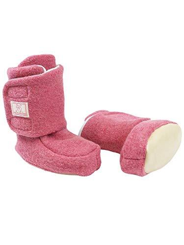 PICKAPOOH Baby Bio-Walkschuhe Treter, Wild Rose, Gr. 1 Schuhgröße 16-18