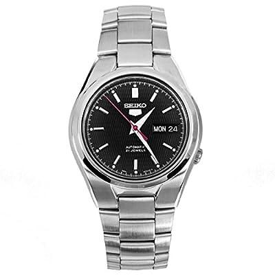 Seiko - Reloj automático para hombre, correa de acero inoxidable, color plateado