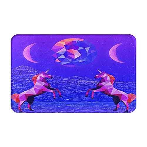 JISMUCI Felpudo Entrada Casa Rectangular Ilustración de Estilo de Onda Ultravioleta Vaporwave Synthwave Impermeable Antideslizante Lavable Alfombra para Interior y Exterior 50x80cm
