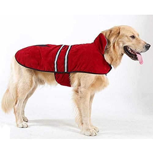 Regenjassen voor honden Huisdierproducten Hondenregenjas Grote hondenregenjas Waterdichte jas Warme hondenkleding Reflecteer hondenjas Huisdierregenjas-Navy_Xl