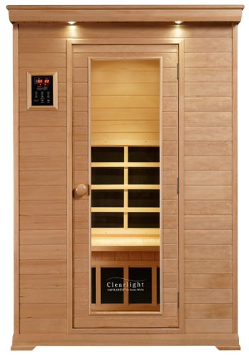 Big Sale ClearLight CE-2 Two Person Sauna Infrared Fusion Carbon/Ceramic - Nordic Spruce Wood New