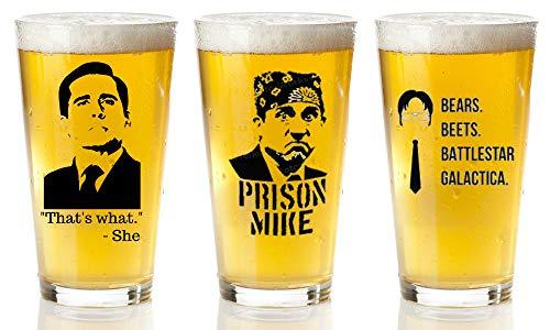 The Office Merchandise 3-Pack beer Glasses Set