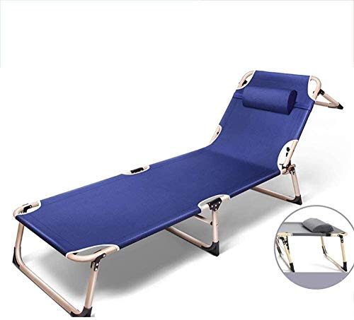 Beach folding chair Folding Sun Lounger Folding Camping Chair Extra Long Bed Deck Chair with Armrest Multi Level Adjustment for Outdoor Garden Beach Camping (Color : B)-B.