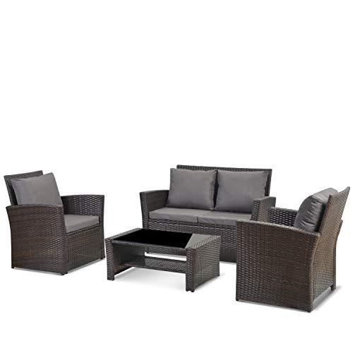 4 Seater Garden Rattan Furniture...