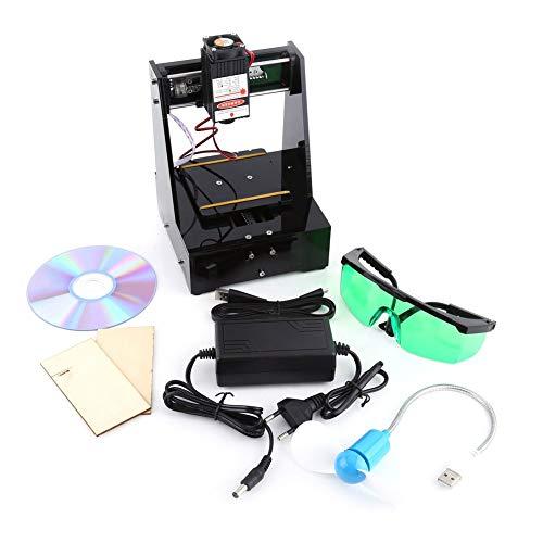 2000MW blauer Laser Graveur Drucker 7 × 7cm Mini-DIY USB Graveur CNC-Fräser, der Carver mit Schutzbrille 100-240V für win7, win8, win10, XP, schwarze Farbe schneidet
