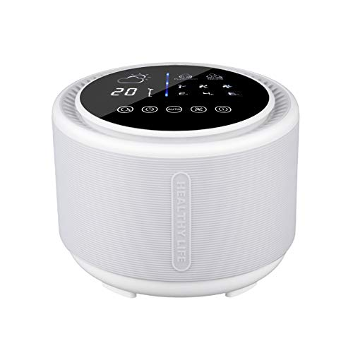 Air Purifier with Ozone Generator 3-in-1 Anion Purifier Filter Desktop Air Cleaner Eliminates Pet Dander Odors Dust and More Great for Personal Office Bedroom and other Small Spaces (White)