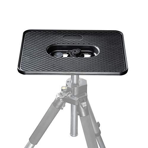 Walimex Laptop- und Projektorplatte - stabile komfortable Beamer, Laptop und Projektorplatte, Aluminium, sehr stabil, 3/8 und 1/4 Zoll Anschluss