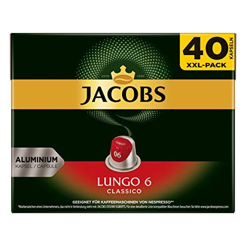 Jacobs Lungo 6 Classico, Kaffeekapseln, Nespresso Kompatibel, Kaffee, 200 Kapseln, á 5.2 g