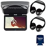 Audiovox Overhead Mobile Video MTGBAVX10 10.1' High Def System with DVD and HDMI with 2 Pair of Headphones