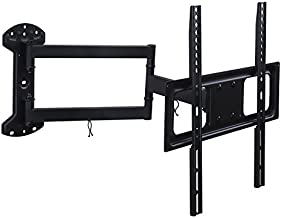 Mount-It! Full Motion TV Wall Mount   Long Arm TV Mount with 24 Inch Extension   Fits 32 to 55 Inch TVs with Up to VESA 400 x 400, 77 Lbs Capacity