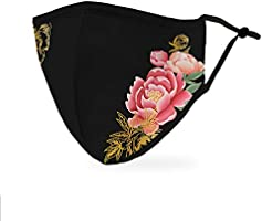 Weddingstar Reusable and Adjustable Protective Fabric Face Mask w/Filter Pocket